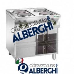 Cucina 4 piastre elettriche Dim. 800x700x900h mm