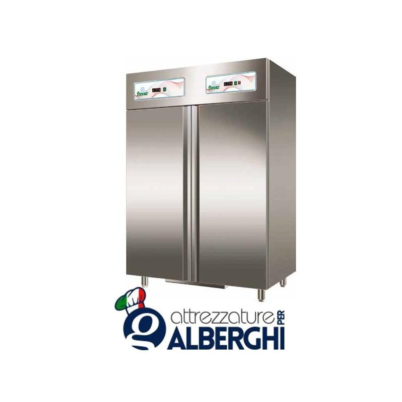 Armadio refrigerato doppia temperatura statico 538 litri in Acciaio Inox  Temperatura +2/+8°C -18/-20°C Dim. 1340x800x2010 mm