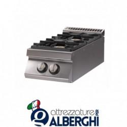 Cucina 2 Fuochi a gas top – Dim.cm. 40x70x27h