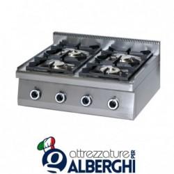 Cucina 4 Fuochi a gas top – Dim.cm. 70x70x27h