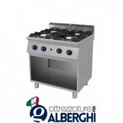 Cucina 4 Fuochi a gas vano a giorno – Dim.cm. 70x70x85h