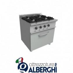 Cucina 4 Fuochi a gas con forno elettrico – Dim.cm. 80x70x85h