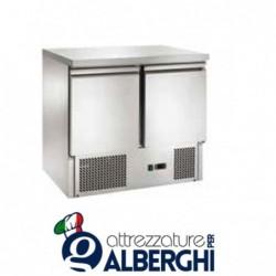 Saladette refrigerata statica 2 sportelli Temperatura +2/+8°C
