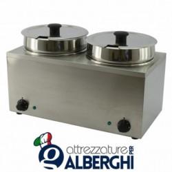Bagnomaria 2 vasche 3.5+3.5 lt Potenza 0.30kW