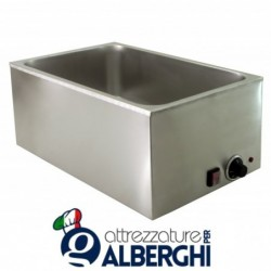Bagnomaria 1 vasca 1.2kW Dim. interne(mm): 325(L) x 515(P) x 170(H)