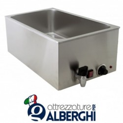 Bagnomaria 1 vasca 1.2kW Dim. interne(mm): 325(L) x 535(P) x 170(H)