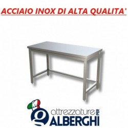 Tavolo acciaio inox professionale di alta qualità senza ripiano inferiore – senza alzatina – 110x60x85h