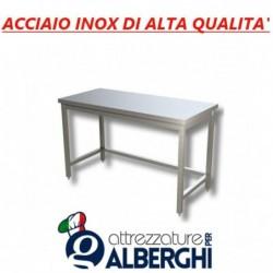 Tavolo acciaio inox professionale di alta qualità senza ripiano inferiore – senza alzatina – 170x60x85h