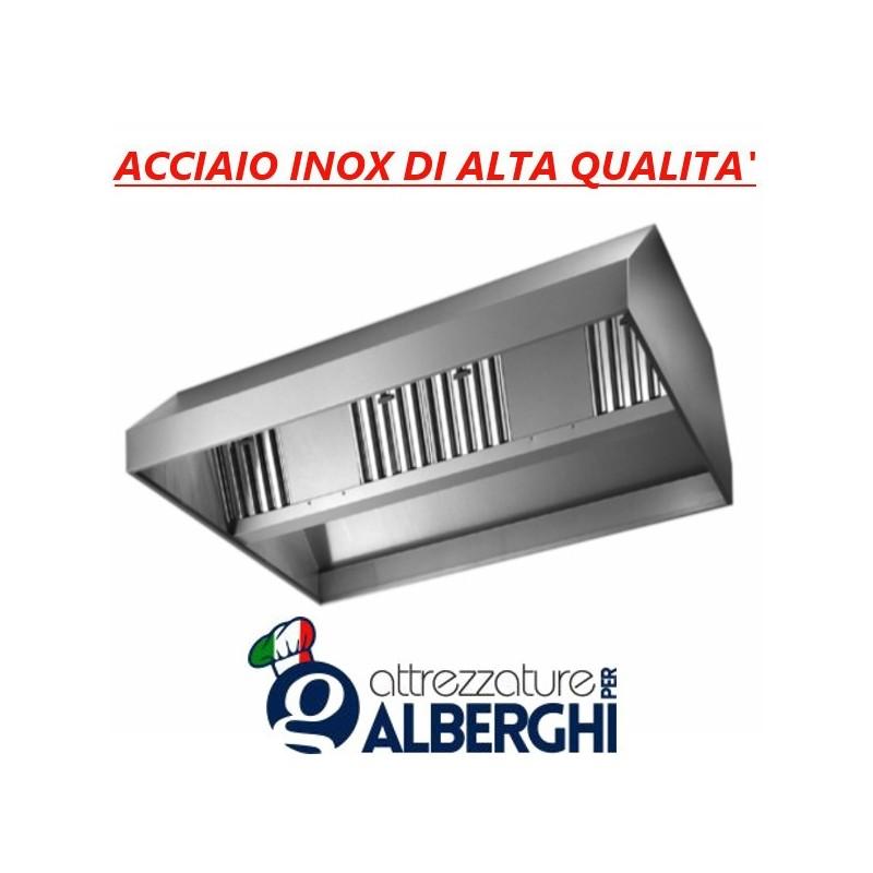 Cappa d aspirazione acciaio inox centrale con motore – Dimensioni cm.  160x150x45h 8669a9ce962f