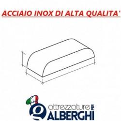 Plenum di aspirazione sopra cappa acciaio inox  – Dimensioni mm. 1800x500x400h
