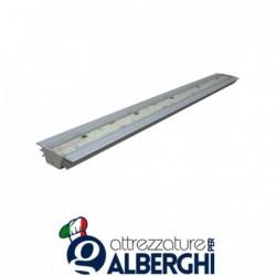 Strip Led LARGE per cappa – struttura con profili di alluminio anodizzato e copertura con resina trasparente IP68
