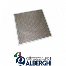 Filtro a rete incrociata acciaio inox per cappa – Dim. mm 500x400x12