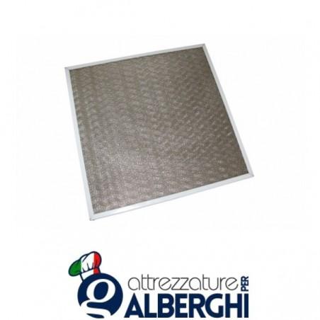 Filtro a rete incrociata acciaio inox per cappa - Dim. mm 400x500x12