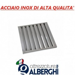 Filtro a labirinto acciaio inox per cappa – Dim. mm 500x400x25