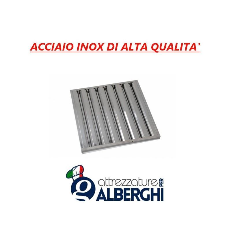 Filtro a labirinto acciaio inox per cappa – Dim. mm 500x500x25
