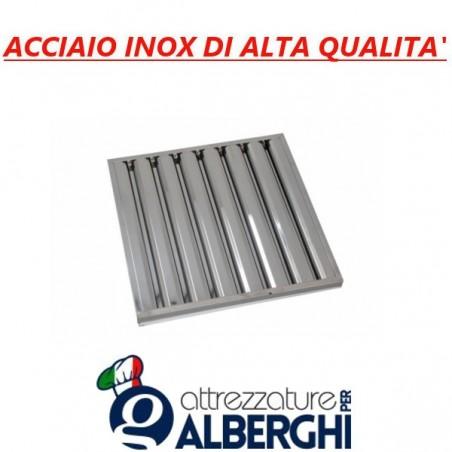 Filtro a labirinto acciaio inox per cappa - Dim. mm 500x500x25