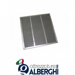 Filtro piano CARBOFIL zincato  per cappa – Dim. mm 500x400x23
