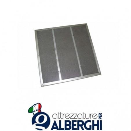 Filtro piano CARBOFIL zincato  per cappa - Dim. mm 500x400x23