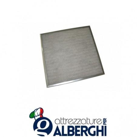 Filtro piano sintetico G2 zincato per cappa - Dim. mm 500x400x12