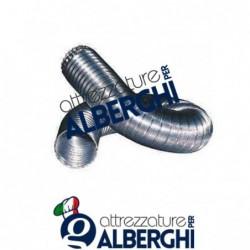 Canale Tubo Canalizzazione flessibile in alluminio ø 160 mm formato: (compresso) 900 mm (esteso) 3000 mm per cappa