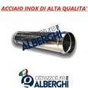 Canale Tubo Canalizzazione Tondo 500 mm – ø 220 mm in acciaio inox per cappa
