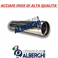 Canale Tubo Canalizzazione Tondo 500 mm – ø 400 mm in acciaio inox per cappa