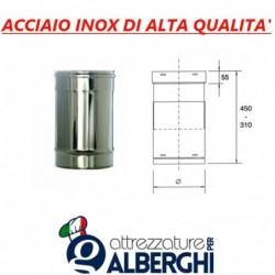 Condotto regolabile ø 200 mm in acciaio inox per cappe