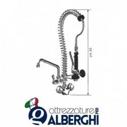Gruppo doccia MIGNON + rubinetto a metà tubo + monoforo per prelavaggio stoviglie