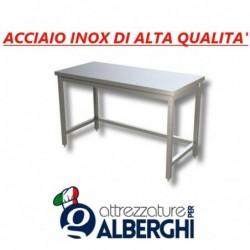 Tavolo acciaio inox senza ripiano inferiore – senza alzatina –  Dim. cm. 120x70x85 • LINEA ECO