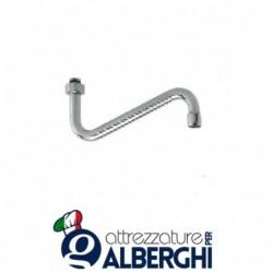 Canna per rubinetto a metà tuo 25 cm ricambi gruppo doccia