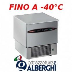 Abbattitore di temperatura in Acciaio Inox con controllo digitale con sensori Touch, per 5 teglie GN1/1 o 600×400 mm senza