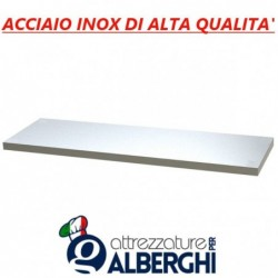 Ripiano intermedio – di fondo – di appoggio per tavolo armadiato aperto in acciaio inox 40x50x4 cm