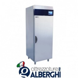 Armadio refrigerato frigo acciaio inox 900 Lt. TN Serie MACCHEF -2°/+8°C Digitale touch pasticceria/gelateria per teglie 60&#215