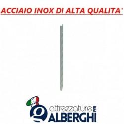 Cremagliera per Mensola ripiano parete cremagliera acciaio inox H. 430 cm