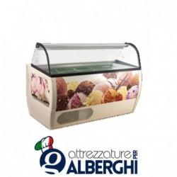 Banco vetrina per gelato mantecato ventilata Rumba 1367 x 927 x 1277 mm