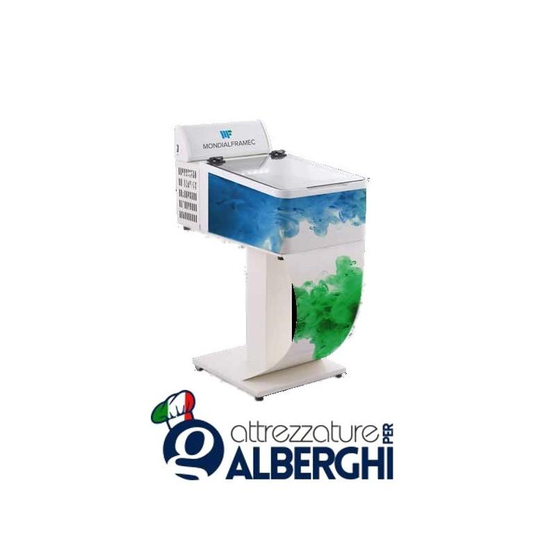 Espositore da banco negativo per gelato gelateria dimensioni 654 x 790 x 345 mm