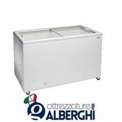 Congelatore conservatore orizzontale con vetri piani scorrevoli dimensioni 843 x 670 x 895 mm