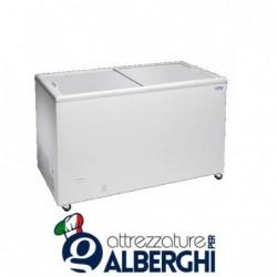 Congelatore conservatore orizzontale con coperchi piani scorrevoli dimensioni 1063 x 670 x 895 mm