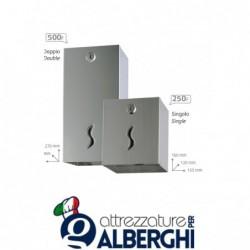 Distributore di carta igienica interfogliata 250/500 pz.