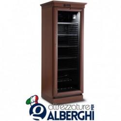 Vetrina refrigerata ventilata – Cantina vino in legno 372 Lt. Temp +1°/+10°C Dim.cm 62x65x200h