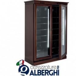 Vetrina refrigerata ventilata – Cantina vino in legno 744 Lt. Temp +1°/+10°C Dim.cm 122x65x200h
