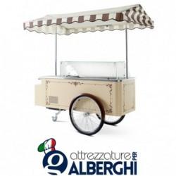 Carrettino dei gelati a refrigerazione ventilata cap. 6+6 (sovrapponibili)  vaschette da 5 Lt temp -14°/-16°C