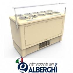 Vetrina banco gelato refrigerato cap. 6+6 (sovrapponibili)  carapine da 7 Lt temp -5°/-20°C