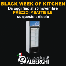 Frigo vetrina a colonna 171 Lt. – Armadio refrigerato BLACK FRIDAY