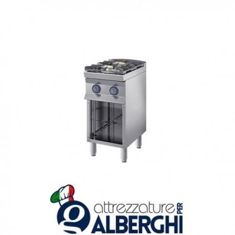 Cucina a gas 2 fuochi su base aperta. 40X70x85H 8,4 Kw – 7CFLG2DA