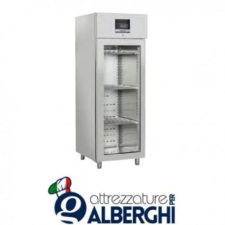 Armadio frigo stagionatore formaggi in acciaio inox digitale 1 anta vetro 900 Lt Temp. 0°/+30° C – QS900