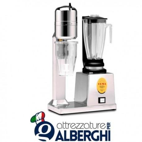 Frullatore Blender e frappè con bicchiere trasparente 1,2 +0,8 Lt professionale FRFL2013