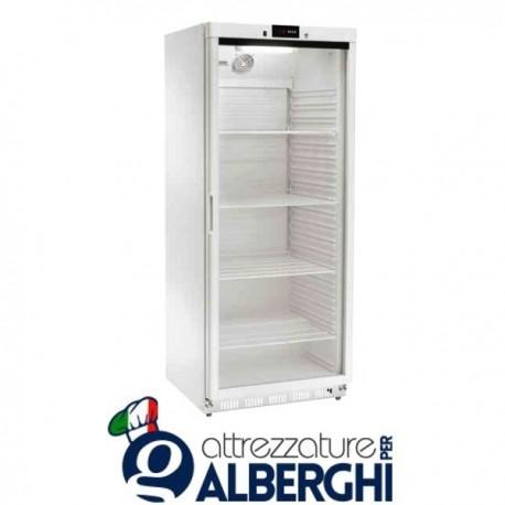 Armadio Refrigerato Espositore con Porta a Vetro Statico 185W 580Lt. Temp. +2°/+8°C Dim.cm 77,7x71x189,5h Professionale