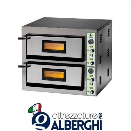 Forno Elettrico per Pizza con piano Refrattario 8400W Professionale